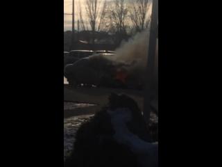 Самара московское шоссе горит авто  10 мар. 2017 г.