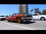 Kandy Orange '75 Chevrolet Caprice Vert on All Gold Amani Forged Stance 26s