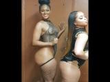 Две сладкие мулатки рассуждают о жизни и одна шлёпает по заднице другую , BBW , plus size black , curvy hot , chubby girl mulat
