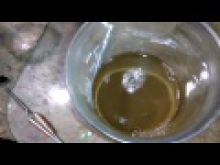 Осаждение золота после HCl H2O2