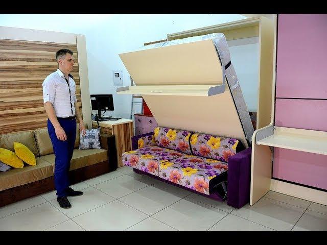 Кровать трансформер мебель ,шкаф кровать диван,смарт ,smart furniture transformer ,3м2