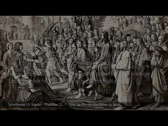 15 JESUS erläutert Schrifttexte Matthäus 21 7 ❤️ BILD DER DEMUT ❤️