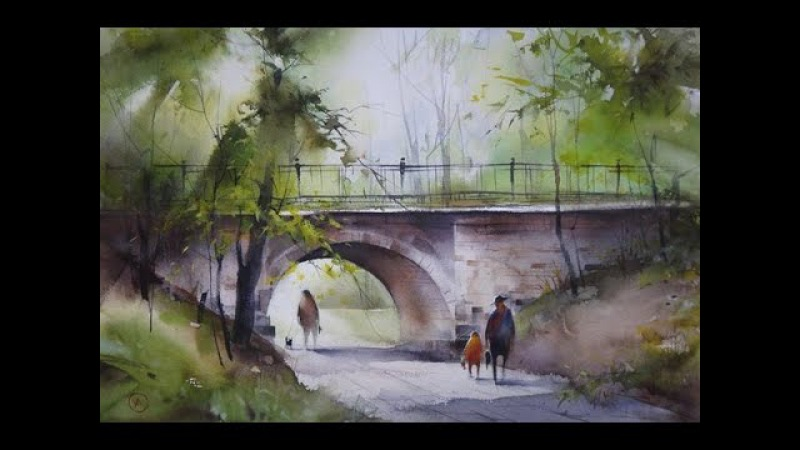 Walk In. Watercolor Ilya Ibryaev ART