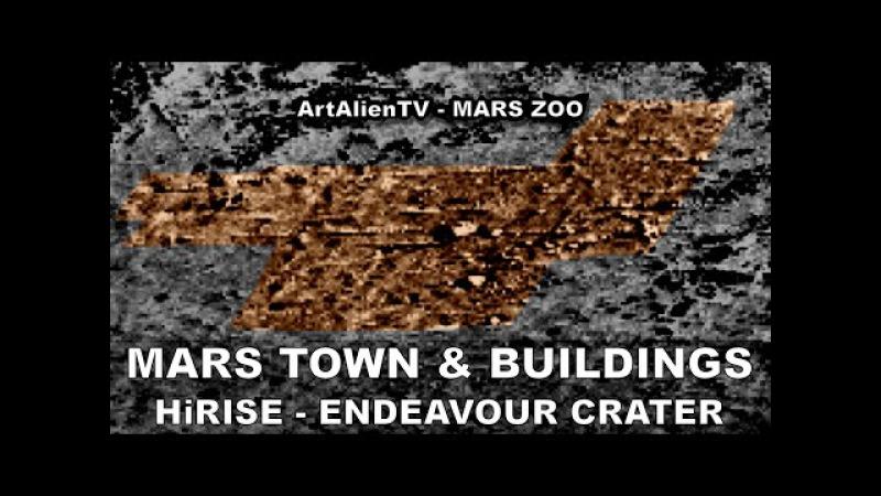 MARS TOWN LARGE BUILDINGS: HiRISE Endeavour Crater City? ArtAlienTV - 1080p