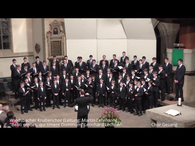 Windsbacher Knabenchor Beati omnes, qui timent Dominum Leonhard Lechner (Stuttgart 17.02.2017)