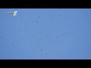 شاهد..عدسة الدرر الشامية ترصد تحليق الطيران الروسي واستهدافه مدينة درعا