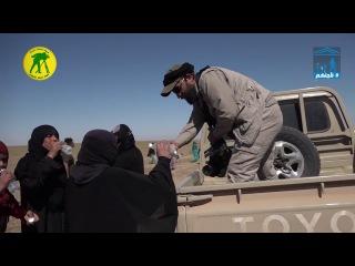 الحشد الشعبي اليوم يستقبل العوائل الهاربة من بطش داعش ويوفر لهم اماكن امنة