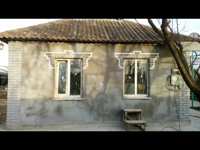 Фасад за пару копеек. Имитация старого кирпича (old brick). Углы, окна. ч.19