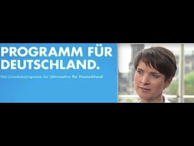 Hörbuch Grundsatzprogramm der AfD. Vorwort von Frauke Petry