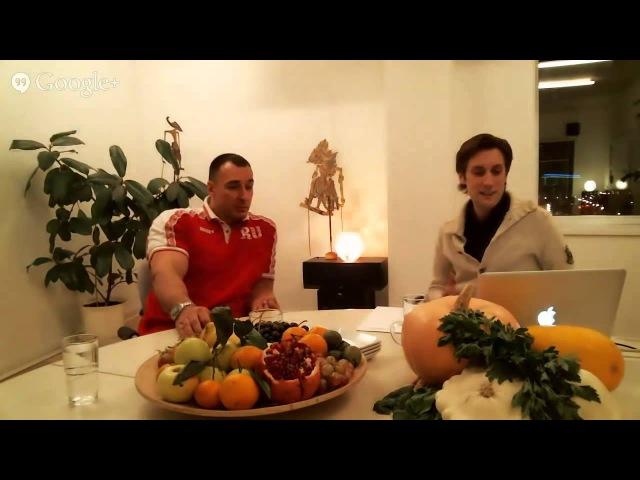 Алексей Воевода о сыроедении вегетарианстве и о спорте