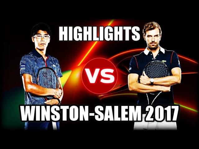 Hyeon Chung vs Julien Benneteau WINSTON-SALEM 2017 Highlights