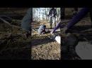 Ярослав на шашлыках в лесу.