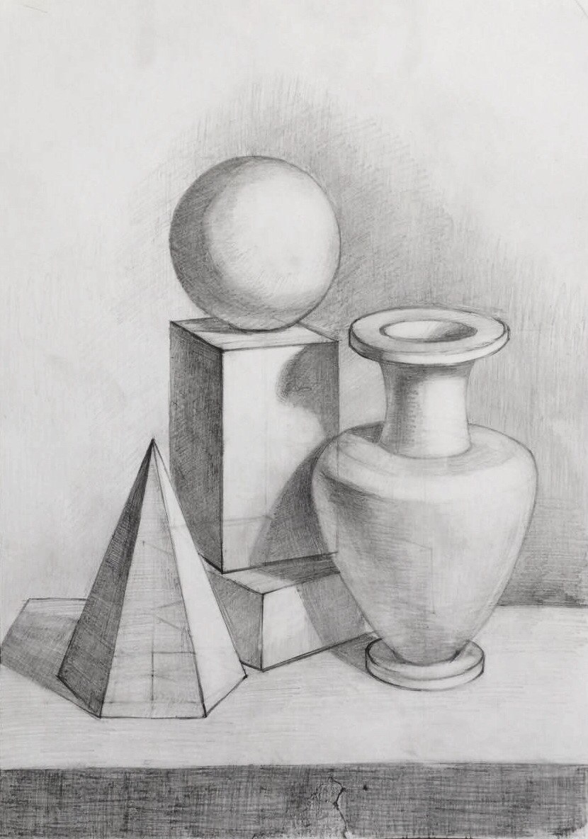 графические картинки натюрморта из геометрических тел фотографии добавляются