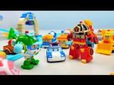 Робокар Поли вместе  с Роем Эмбер и Хелли спасают Подъёмный кран Лэти. Мультик про Машинки для детей