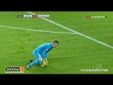 Лукаш Градецки получает красную карточку (РБ Лейпциг - Айнтрахт)