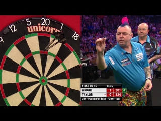 Phil Taylor vs Peter Wright (2017 Premier League Darts / Semi Final)