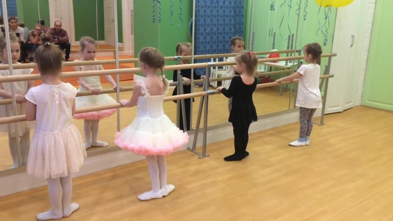 Открытый урок • БАЛЕТНАЯ СТУДИЯ • май 2017 • упражнения у балетного станка • часть 1