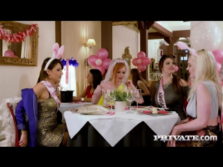 Carly Rae, Ella Hughes, Lucia Love, Suzy Rainbow (Orgy in the Restaurant)2017, All Sex, Group, HD 1080p
