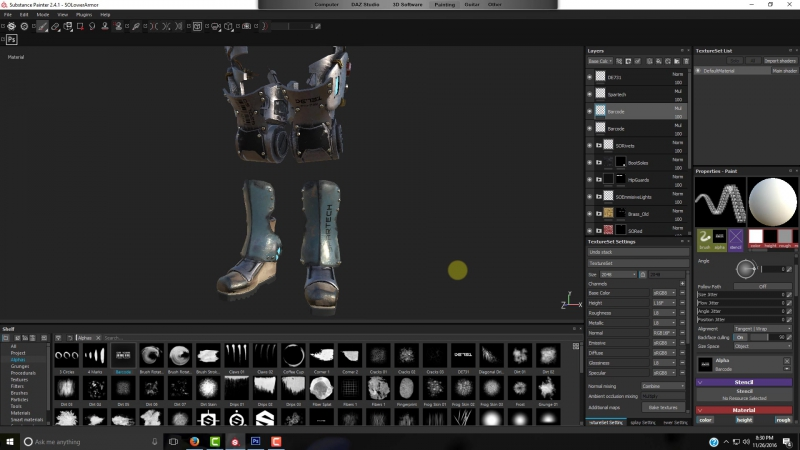 Daz Studio and Substance Painter 2