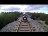 Motorcycle Falls Through Railroad Track! Some NSFW (but entirely appropriate) Language!