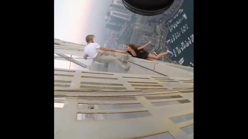 А вы бы решились? Экстрим в Дубаи. Мурашки по телу