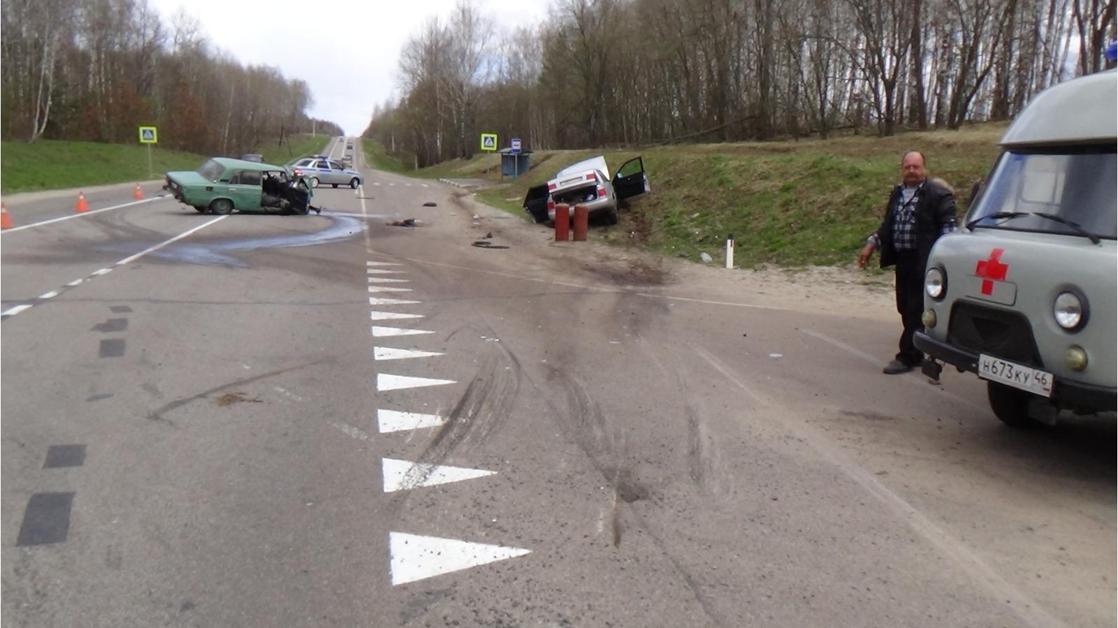 ВКурской области случилось  смертельное ДТП: двое погибших, пятеро раненых
