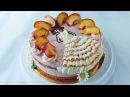 Торт клубничный Птичье молоко | Клубника и персики