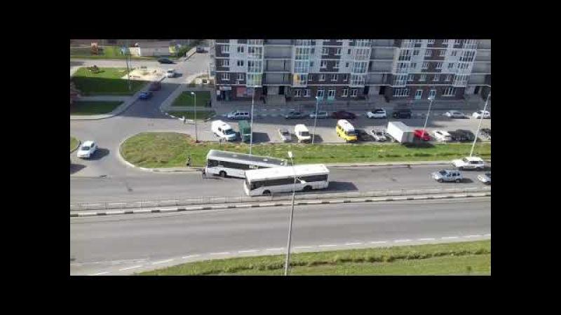 ДТП на ул. Свиридова в Липецке столкнулись два маршрутных автобуса