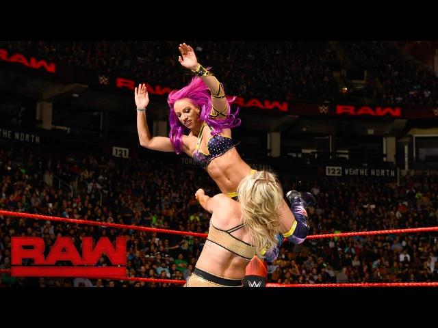SBMKV_Video | Sasha Banks Bayley vs. Charlotte Flair Nia Jax: Raw, Nov. 21, 2016