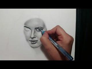 SOLOREHAM / sketch for Tuba Buyukustun in charcoal pencil