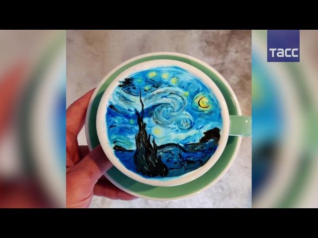Удивительные рисунки на кофе от бариста из Сеула