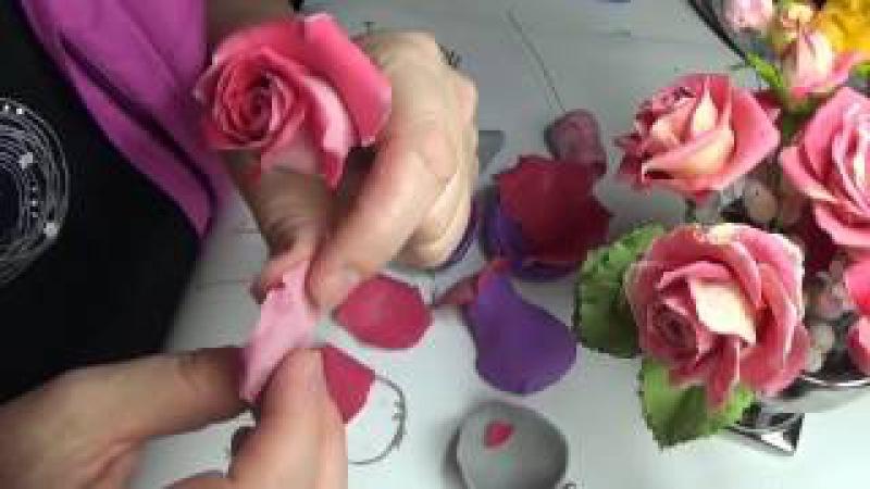 сборка розы из Silk Clay от Риты (то что было не видно:)) Ч.2