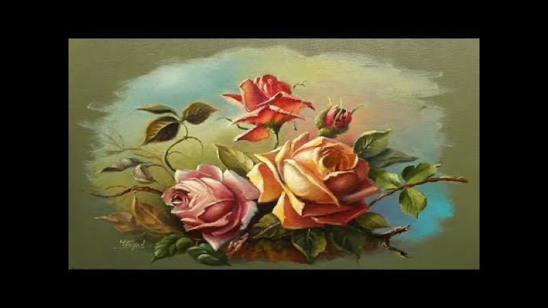 Oil Painting Roses With Yasser Fayad