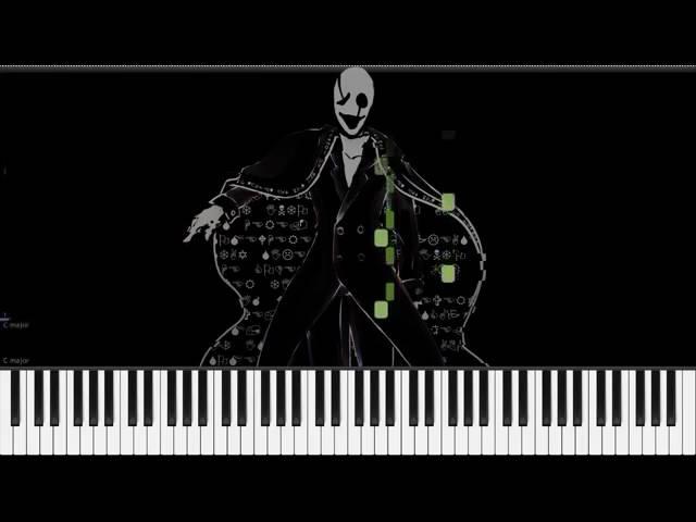 Песня гастера на пианино