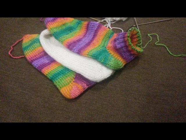 Вязання.Пятка шкарпетки (пятка носка) діагональна.Як я це роблю.
