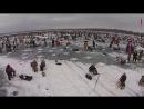 Largest Ice Fishing Tournament In The World On Gull Lake, M