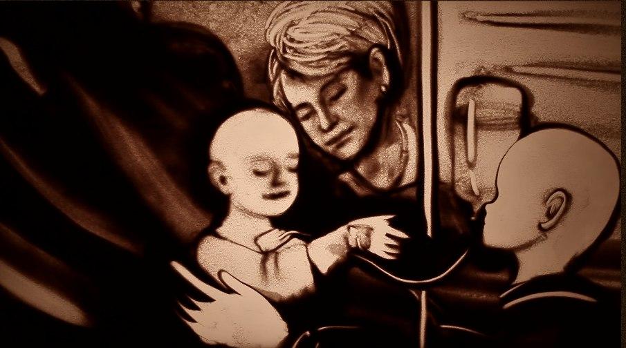 Крымская художница посвятила памяти Доктора Лизы фильм из песка