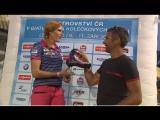 Габриэле Коукаловой вручают эксклюзивные розовые ботинки от Alpina (+интервью)