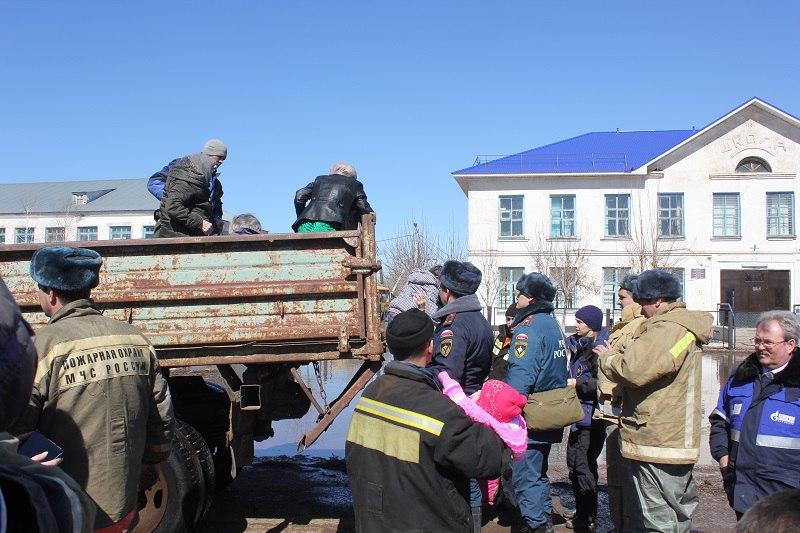 Уточненная информация по паводковой обстановке в с. Краснохолм города Оренбург