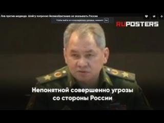 Лев против медведя. Шойгу попросил Великобританию не указывать России
