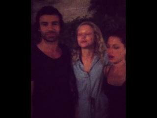 Naomi Battrick Ben Starr Niamh Walsh (Steven Waddington instagram) behind the scenes Jamestown