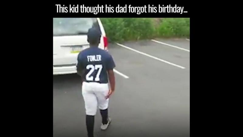 Этот удивительный момент между отцом и сыном