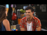 Lea Michele Taylor Lautner Talk About Twilight In The Fox Lounge Season 2 SCREAM QUEENS