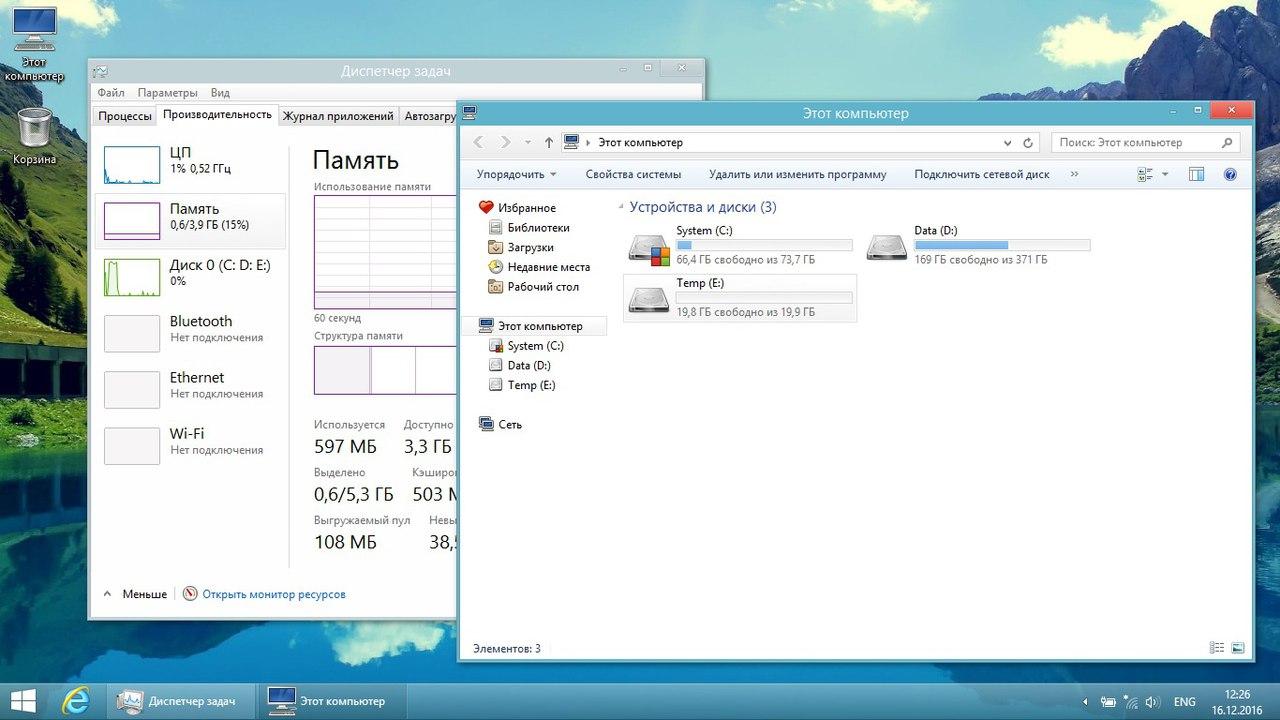 Windows 8.1 Update 3 Легкая by Den скачать торрент