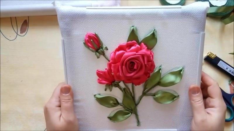 МК. Создаем композицию с розой. Часть 2. Разживалова Наталья