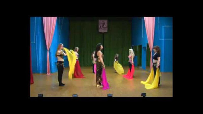 Учим восточный стилизованный танец с платком для начинающих Цветочек