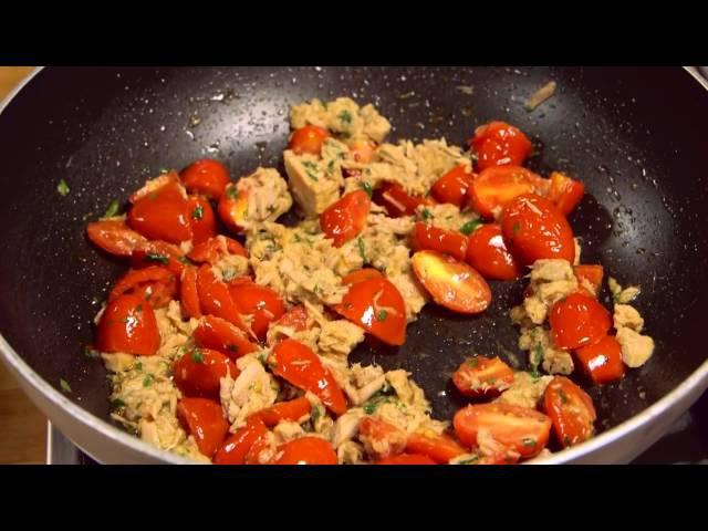 Spaghetti con tonno e pomodorini Ricetta