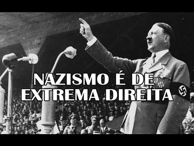 Trecho extraído de um documentário da Discovery Channel afirmando que o nazismo é de extrema-direita