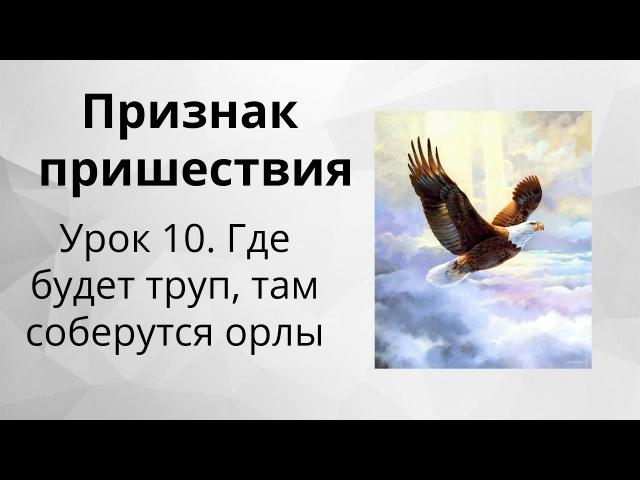Признак пришествия Иисуса Христа - 10. Где будет труп, там соберутся орлы