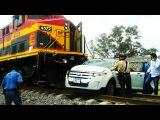 STUPID IDIOTS vs TRAIN - Stupid people doing stupid things, Retarded Drivers Fails on Level Crossing